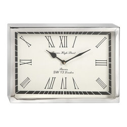 iMax - iMax Wadsworth Small Wall Clock X-54991 - This contemporary, art deco inspired wall clock will bring a sophisticated touch of mid-century aesthetic to office or home right on time.