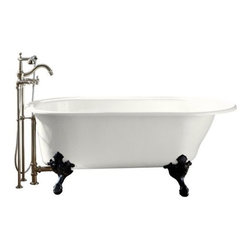 """KOHLER - KOHLER K-710-W-0 Iron Works Historic Bath with White Exterior in White - KOHLER K-710-W-0 Iron Works Historic Bath with White Exterior in WhiteWith integral lumbar support and extra-spacious 36"""" width, the Iron Works Historic bath is ideal for a relaxing soak after a long day. The required intricately ornate ball-and-claw feet portray historical charm, and other products in the Iron Works Historic Suite unify your bathroom design. The Safeguard(R) slip-resistant finish adds safety to your bath or powder room and the exterior allows for color customization.Please see our Delivery Notes for Freight Shipments for products that are oversized and/or are too heavy to ship UPS ground. KOHLER K-710-W-0 Iron Works Historic Bath with White Exterior in White, Features:• Height of bath on claw feet: 66""""L x 36""""W x 24-1/2""""H"""