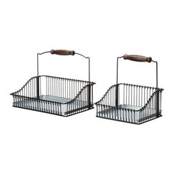 Carina Bengs - FINTORP Wire basket with handle, set of 2 - Wire basket with handle, set of 2, black