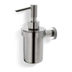 Modo Bath - Zac Stainless Steel Liquid Soap Dispenser - Zac H 305DC Liquid Soap Dispenser in Stainless Steel, Wall-Mount Installation, Made in Italy