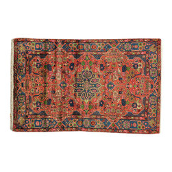 1800-Get-A-Rug - 100% Wool Persian Nahavand Full Pile Hand Knotted Oriental Rug Sh18774 - Our fine Oriental hand knotted rug collection consists of 100% genuine, hand-knotted and hand-woven rugs from Persia, China, and other areas throughout Asia. Classic, traditional, and offered in a wide range of elaborate designs, every rug is guaranteed to serve as a beautiful and striking element in any interior setting.