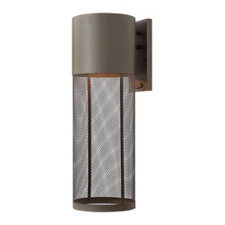 Hinkley Lighting - Aria Large Wall Outdoor - Channel your inner designer! If your aesthetic is modern or contemporary, think outside the box. This outdoor light would look amazing indoors too. The stainless steel mesh shade offers an edgy feel that could pump up the ambience in your space.
