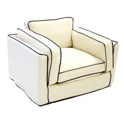 Armen Living South Beach Cream Chair