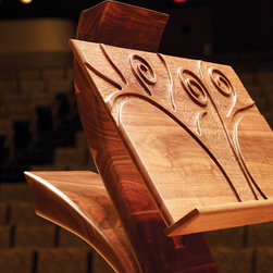 Music Stands - A beautiful piece of wood, a musical instrument, a particular style of design...