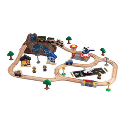 KidKraft - Kidkraft Kids Children Fun Play Toy Bucket Top Mountain Train Set Furniture - Our Bucket Top Mountain Train Set lets kids explore an entire world without even leaving the house. Fun details like three-piece runway and molded mountain help this set look even more realistic. When playtime is finished, storing this train set is a breeze  everything comes packaged in a convenient plastic bucket.