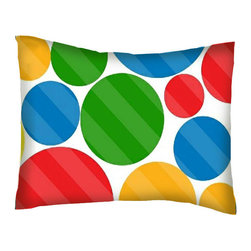 SheetWorld - SheetWorld Twin Pillow Case - Percale Pillow Case - Primary Colorful Dots - Pillow case is made of a durable all cotton percale material. Fits a standard twin size pillow. Features a Primary Colorful Dots print.