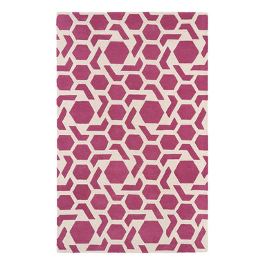 Kaleen - Kaleen Revolution Collection REV05-92 8' x 11' Pink - The color Revolution is here! Trendy patterns with a fashion forward twist of the hottest color combinations in a rug collection today. Transform a room with the complete color makeover you were hoping for and leaving your friends jealous at the same time! Each rug is hand-tufted and hand-carved for added texture in India, with a 100% soft luxurious wool.