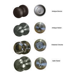 Sure-loc - Mushroom Single Key Entrance Knob/ Deadbolt Combination - Rest assured that your home or office is completely secure with this knob and deadbolt door lock set. This set is available in a variety of finish options to easily complement your existing home decor. The single-key entrance design offers convenience.