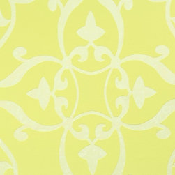 Walls Republic - Elegant Yellow Wallpaper R1560, Double Roll - Elegant Silver is a luxurious updated classic damask pattern available in both neutral and bold bright colours. The neutral options can create a relaxing, calm and elegant aura and fuses together vintage, traditional, and contemporary styles for an impactful look. In bolder shades Elegant can create a more contemporary vibe great for a bedroom or living room.