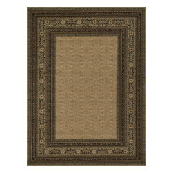 """Loloi Rugs - Loloi Rugs Stanley Collection - Lt. Gold / Sage, 5'-2"""" x 7'-7"""" - The magnificent Stanley Collection features modern interpretations of the most sophisticated hand knotted designs. Recreated in Egypt with power loomed technology these gorgeous polypropylene area rugs offer an affordable alternative."""