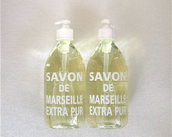 Extra Pure Liquid Soap: Fragrance Free | Pieces - Don't let tacky plastic liquid soap bottles junk up your otherwise perfectly beautiful counters. These glass soap dispensers will add subtle French flair and fragrance to the bathroom and kitchen.
