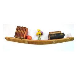 Wine Barrel Floating Shelf -