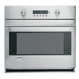GE Monogram European convection single oven - A Monogram® wall oven delivers exceptionally consistent cooking performance, every time. The reverse-air convection system uses a bidirectional fan to circulate heated air on all sides of food, producing the ideal blend of taste and texture.