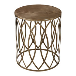 Sterling Industries - Sutton Side Table in Gold Paint with Champagne Antique - Sutton Side Table in Gold paint with champagne antique by Sterling Industries