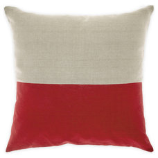 Dipped Cushion in Deep Red 50cm