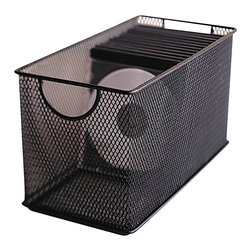 Design Ideas - Mesh CD Box - Black - Your desk will become an organization station with our black mesh CD Box.