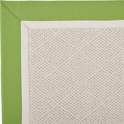 Frontgate - Outdoor Parkdale Rug in Sunbrella Green/Off-White White Wicker - 5' x 8' - Wicker-textured base is woven in soft and durable olefin. Choose from two base colors on White Wicker borders. Cleans with soap and water. Sunbrella® fabric is resistant to fading, staining, and mildew. Rug pad recommended (sold separately). Our Parkdale Rug with colorful borders match the premium all-weather fabrics featured on our replacement cushions, pillows, draperies and umbrellas. This all-weather rug will work just as beautifully indoors as it does outside.  .  .  . Sunbrella fabric is resistant to fading, staining, and mildew .  . Made in the USA.