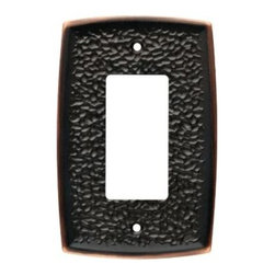 Liberty Hardware - Liberty Hardware 144034 Hammered WP Collection 3.43 Inch Switch Plate - Bronze W - A simple change can make a huge impact on the look and feel of any room. Change out your old wall plates and give any room a brand new feel. Experience the look of a quality Liberty Hardware wall plate.. Width - 3.43 Inch,Height - 4.96 Inch,Projection - 0.28 Inch,Finish - Bronze W/Copper Highlights,Weight - 0.43 Lbs