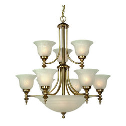 Dolan Designs - Dolan Designs 664-18 Richland Old Brass 14 Light Chandelier - Dolan Designs 664-18 Richland Old Brass 14 Light Chandelier