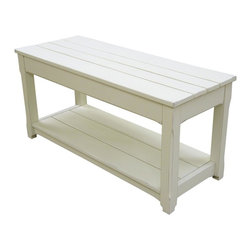 EuroLux Home - New Bench White/Cream Painted Hardwood - Product Details