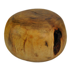 Rotsen Furniture - Mango Wood Poufs Stools - Stools made from solid blocks of reclaimed mango wood. This hand made organic shape piece can be used as a stool or side table.