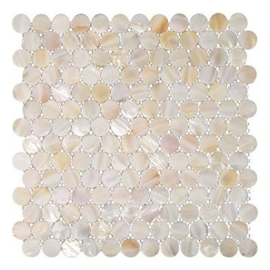 """Home Elements - Mother of Pearl Tile, 4""""x 4"""" Sample - Product Description:"""