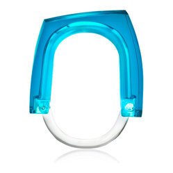 Neon+Squared Curtain Rings - Blue Concentrate