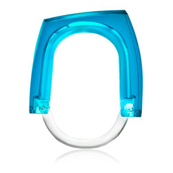 Kontextur - Neon+Squared Curtain Rings - Blue Concentrate - Introducing a collection of irreverent, sexy, sleek curtain rings that can be used to accent window curtains as well as shower curtains. The Neon Squared Rings offer a cost effective way to change the look of a room and add a little bling without breaking the bank. Cool and vibrant all in one, these clear blue curtain rings carry with them a sharp urban-influenced design with bright, attention-grabbing color that draw the eye to their fashionable look.