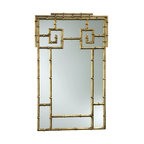 Cyan Design - Cyan Design Bamboo Mirror X-33030 - From the Bamboo Collection, this Cyan Design mirror starts with a rectangular shape. The top features Greek key accents, and the entire frame has been done with a bamboo-inspired texture that gives it a classic look. To complete the design, a Gold finish has been applied.