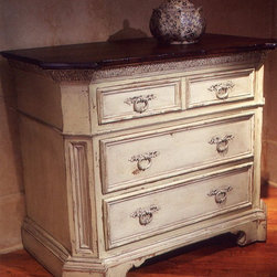 "Habersham - Habersham Central Park Three-Drawer Chest - It all started in the small North Georgia town of Clarkesville. It was 1969 and Habersham founder Joyce Eddy had just been given the chance to operate a small antique shop located above an old laundromat. This was just the opportunity a woman of Joyce's vision and energy would turn into the perfect blend of utility artistry and soul. Looking for ways to make her antique business more profitable she began crafting small decorative purses from vintage wooden cigar boxes. They were totally unique and they were an instant hit. Joyce named her new venture Habersham Plantation after Georgia's Habersham County and the plantations for which the area was known. The ideas just kept coming. One day Joyce was driving by a local textile company and spotted a large pile of old discarded wooden spools. Those spools were soon crafted into candleholders towel racks and folk art items. With the help of her sons and other family members Joyce expanded Habersham's offerings to include handcrafted furniture reflecting the American Country designs of the early 17th and 18th centuries. As word spread and production demands grew Joyce enlisted the help of woodworkers from her North Georgia region. This area had been a center for cabinetmaking since the early 1800s and the master craftsmen were well-schooled in the time-tested woodworking and joinery techniques that matched Joyce's sense of style and function. She even designed her factory to work just as the 18th century cabinetmakers did with individual artisans hand-finishing signing and dating each piece of furniture they crafted. Today Habersham still leads the way in the fine art of furniture design. So much so that in addition to their product line a new ""whole home"" concept is finding its way into some of the finest dwellings in the country. Custom kitchen bath and other cabinetry designs offer rich opulent finishes and blend seamlessly with rooms of casual elegance all enhancing today's gracious lifestyle. Features include Interior: 3 drawers."