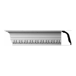 Renovators Supply - Cornice White Urethane St. Albans - Cornice - Ornate | 11355 - Cornices: Made of virtually indestructible high-density urethane our cornice is cast from steel molds guaranteeing the highest quality on the market. High-precision steel molds provide a higher quality pattern consistency, design clarity and overall strength and durability. Lightweight they are easily installed with no special skills. Unlike plaster or wood urethane is resistant to cracking, warping or peeling.  Factory-primed our cornice is ready for finishing.  Measures Measures 3 inch H x 94 inch L.