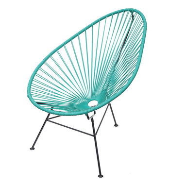 Acapulco Chair - This luxury lounger unifies tradition with innovation and harmonizes the function of ergonomic comfort with a retro-modern aesthetic. The flexible yet durable vinyl cord weave perfectly cradles your body within its clean lines and offers a casual sophistication to every home.