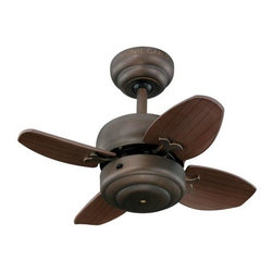 Montecarlo - Montecarlo Mini Ceiling Fan in Roman Bronze - Montecarlo Mini Model MC-4MC20RB in Roman Bronze with Blades.