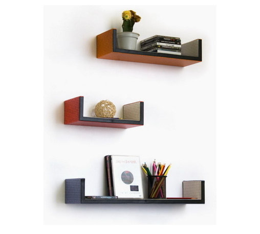 Blancho Bedding - Fantasy LandU-Shaped Leather Wall Shelf / Bookshelf / Floating Shelf Set of 3 - These beautifully crafted U Shaped Wall Shelves display the art of woodworking and add a refreshing element to your home. Versatile in design, these leather wall shelves come in various colors and patterns. They spice up your home's decor, and create a multifunctional storage unit for all around your home. These elegant pieces of wall decor can be used for various purposes. It is ideal for displaying keepsakes, books, CDs, photo frames and so much more. Install as shown or you may separate the shelves to create a layout that suits your taste and your style. Each box serves as a practical shelf, as well as a great wall decoration.