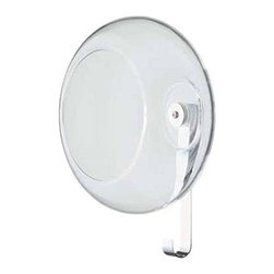 Bowl Wall Holder by Fontana - Bowl by Fontana Arte is a wall holder and coat-hanger made from blown transparent glass. The hook is finished in chrome plated metal. The bowl is a functional piece that can hold your car keys, coins or small toys. Bowl is designed by Paolo Ulian, 2003