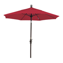 California Umbrella - 7.5 Foot Pacifica Crank Lift Tilting Aluminum Patio Umbrella, Bronze Pole - California Umbrella, Inc. has been producing high quality patio umbrellas and frames for over 50-year . The California Umbrella trademark is immediately recognized for its standard in engineering and innovation among all brands in the United States. As a leader in the industry, they strive to provide you with products and service that will satisfy even the most demanding consumers.