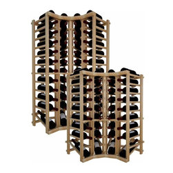 Wine Cellar Innovations - Curved Corner Top Stack w/Display: Vintner: Rustic Pine, Unstained - 3 Ft - This curved wine rack kit makes an excellent solution to attractively store your wine where a 90 degree directional transition is needed, or just to add creativity to the design of the wine room. Purchase two to stack on top of each other to maximize the height of your wine storage. Moldings and platforms sold separately. This corner wine rack also has a built in display row. Assembly required.