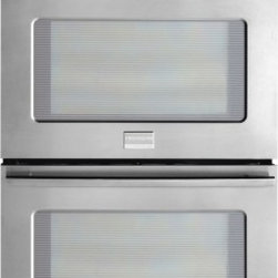 "Frigidaire - FPET2785PF 27"" Double Electric Wall Oven with 3.8 cu. ft. True Convection Ovens - This Frigidaire Double Electric Wall Oven is loaded with features Preheat in less than 6 minutes with PowerPlus Preheat This oven features easy-to-use one touch buttons so you can cook pizza or chicken nuggets  or even add a minute to the timer  with..."