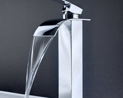 JollyHome - JollyHome Single Handle Bathroom Waterfall Faucet - Complete parts and all install fittings are included.Water pressure tested for industry standard.Easy to keep clean and maintain.Ceramic valve core