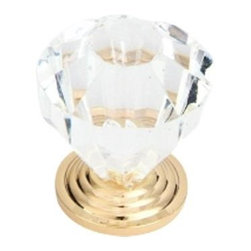 Q.M.I. - Decorative Glass Knob (Set of 10) - Includes mounting screws. Easy to install. Limited lifetime warranty. Made from zinc and glass. 1.25 in. Dia. x 1.38 in. HAdd the finishing touches to your new vanity or cabinets or instantly update the look of your room with this hardware. Our cabinet knobs beautifully compliment any homes decor.