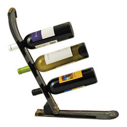 Ski Wine Rack - This unique, handmade 3-bottle wine rack is created from recycled skis. Each rack is one of a kind!