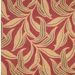 Trans Ocean Import - Ravella Leaf Red Rectangular: 5 ft. x 7 ft. 6 In. Rug - -Indoor/Outdoor  - Impervious to weather conditions  - Rinse off with common garden hose and allow to dry in the sun.  - UV treated to resist fading. -Polyacrylic Blend  Trans Ocean Import - RVL57190224