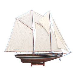 "Handcrafted Model Ships - Bluenose 80"" - Tall Sailboat - Not a model ship kit"