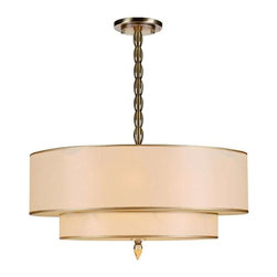 Crystorama Lighting - Crystorama Lighting 9507-AB Luxo Transitional Chandelier in Antique Brass - Crystorama Lighting 9507-AB Luxo Transitional Chandelier in Antique Brass