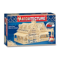 Bojeux Matchitecture Country House - If other model kits have you feeling bored, try something new with the Bojeaux Matchitecture Country House. With an intermediate skill level, this model of a country cottage uses 2,180 matchstick-like pieces called microbeams that you cut apart yourself (cutting tool comes included). Next, consult the provided, step-by-step construction to assemble and glue together the pieces. Every step of the construction assembles directly on the provided acetate sheet. Recommended for hobbyists 12 and older.About Flat River GroupDistributing to over 10,000 storefronts, Flat River Group is dedicated to building strong relationships with key retailers across the country. Their full-service wholesale distribution streamlines operations while decreasing costs. Their cutting-edge software, information systems, and unique shipping capabilities allow them to store, package, and ship products to their clients with ease. The result? The best in sales, inventory, and fulfillment.