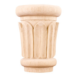 Hardware Resources - Rubberwood Reed Capitals - Top off your latest project by using only the finest materials like this gorgeous, carved reed capital. After all, your home is your castle. It should look like it.