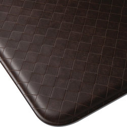 "Imprint Comfort Mats - Imprint Cumulus9 Comfort Mat 26 X 48, Espresso, 26"" X 48"", Nantucket - Number One Consumer Rated Anti Fatigue Comfort Mat.   Sink your feet into the Cumulus9 with its proprietary Multi-Core Technology. Feel how it conforms to the shape of your feet and supports your arches for relief of back, leg and foot discomfort. The advantage is its proprietary multilayer cushioning system. The soft, upper layer luxuriously cushions your feet while the firm, lower layer provides soothing support. You will want an Imprint Comfort Mat everywhere you work and stand - kitchen, laundry, bathroom, garage, workshop and more. University tested and proven by the Center for Ergonomics to reduce overall fatigue and discomfort by up to 60%. No-curl edges and stay-flat memory ensure Imprint Mats will not  curl like other mats. Environmentally friendly, non-toxic and phthalate free .Safe for children and pets. 7-year warranty. 100% satisfaction guarantee."