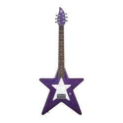 Daisy Rock Debutante Star Short Scale Electric Guitar - Cosmic Purple - Let's just be clear about one thing: She was a star BEFORE you got her the Daisy Rock Debutante Star Short Scale Electric Guitar - Cosmic Purple, now she just has an outlet. There will be no doubt of her stellar status when she straps on this scaled-down axe and gets ready to rock. The slim and narrow design is crafted to better fit smaller players, from the slightly shortened overall length to the narrowed neck that lets smaller hands get in the right position for chords. The body is made using select woods with a maple neck and rosewood fret board. Machine tuning pegs and adjustable chrome saddles keep the strings in place and in tune while a single humbucker pickup provides plenty of buzz-free sound.About Alfred MusicSince 1922, Alfred Music has been active in offering educational, reference and performance materials for students, teachers and working musicians around the world. Their many publication imprints produce music for every instrument in nearly every style, from classical to zydeco and everything in between. Over 50 different companies under the Alfred Music umbrella produce products that include drums, guitars and other musical instruments that are distributed worldwide. If you've ever played or even enjoyed music, chances are that you've been a customer of Alfred Music.