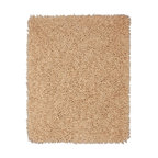 Anji Mountain - Shag Silky Shag 8'x10' Rectangle Beige Area Rug - The Silky Shag area rug Collection offers an affordable assortment of Shag stylings. Silky Shag features a blend of natural Beige color. Machine Made of Bamboo  Cotton the Silky Shag Collection is an intriguing compliment to any decor.