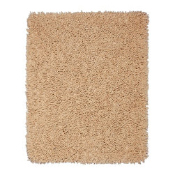 Anji Mountain - Shag Silky Rectangle Beige Area Rug - The Silky Shag area rug Collection offers an affordable assortment of Shag stylings. Silky Shag features a blend of natural Beige color. Machine Made of Bamboo  Cotton the Silky Shag Collection is an intriguing compliment to any decor.